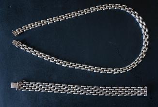Колье и браслет Серебро 925. 77 грамм