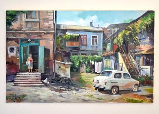 """Картина масло холст """"Одесский дворик 50х80"""""""