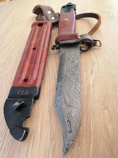 Авторский штык нож АК с дамасской стали. (ММГ)