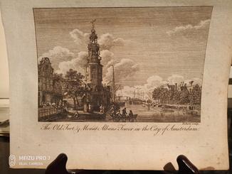 1789 4 Гравюры Амстердам. Бумага верже