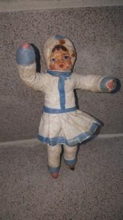 Ёлочная игрушка из ваты, старинная