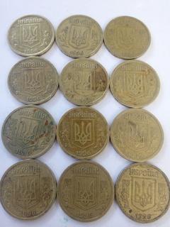 1 гривна 1996 г. 54 штуки  Лот5.2 в коллекцию в неплохом сохране