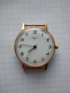 Часы Луч. Позолота