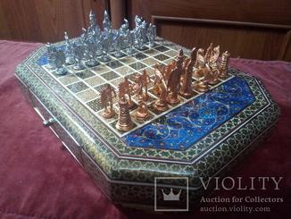 Шахмати східний стиль роспис фарбами