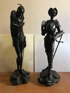 Большие кабинетные скульптуры Касли «Дон Кихот» и «Мефистофель»