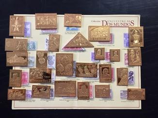 Полный набор памятных Испанских марок из серебра 925 в позолоте