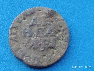 Петровская деньга 1704