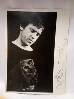 Фото Высоцкого подписанная собственноручно.