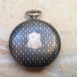 Часы карманные. Серебро с чернением. 800