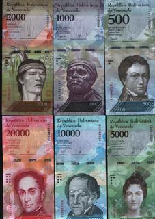 Венесуэла - 12 банкнот