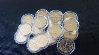1 гривна 1996-2015 (16 монет в капсулах)