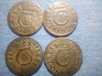 Тешинский обол 1651-1654 4шт.