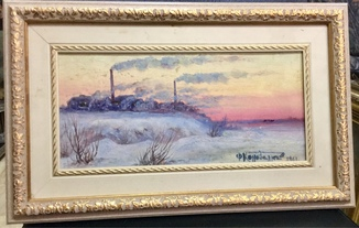 Зимний пейзаж с заводом- Ф.Коновалюк