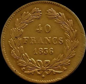 40 франків 1836 року, Луї Філіпп, Королівство Франція