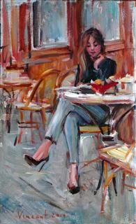 Девушка в кафе.