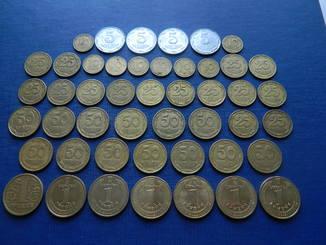 Подборка монет Украины. 47 монет одним лотом. См. описание!!!