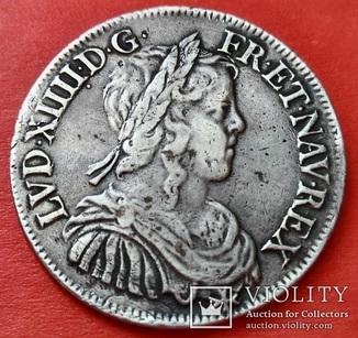 1/2 ЭКЮ (demi-écu ), 1648г, Франция, Людовик XIV