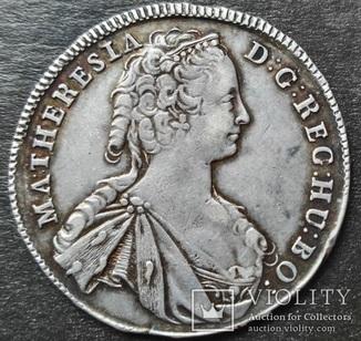 1/2 Талера 1745 г,  Королевство Венгрия, Мария Тереза