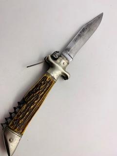 Очень большой складной нож 19 век.