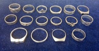 Лот серебро 925, 45 грамм, кольца
