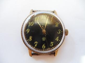 часы ракета в позолоте с кольцом