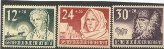 Генерал-Губернаторство 1943  MNH **  №№56-58 Рейх Польша