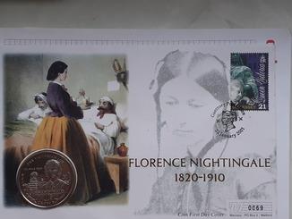 Коллекционный конверт '' № 0069''Гибралтар поч. марка, спец. гашение, монета