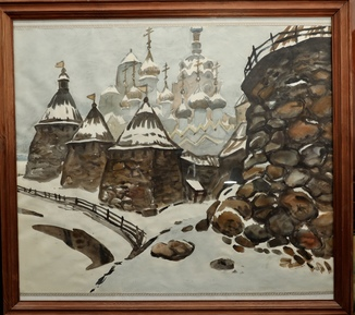 Пейзаж акварелью известного украинского художника Химича