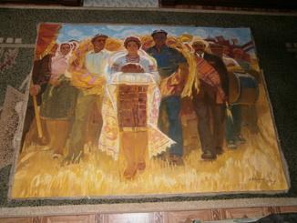 Праздник  Урожая,  автор А. Довженко  120 на 160 см