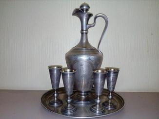 Коньячный набор 1912 год. Серебро 84 подарок земскому начальнику Воронежской губернии