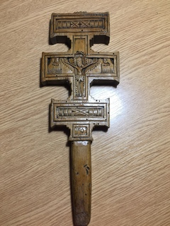 Гуцульський деревяний хрест священника 1901р