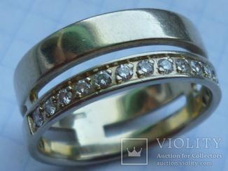 Мужское кольцо с 15 бриллиантами