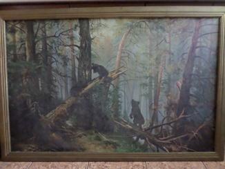 Картина Шишкина И. И.  Утро в сосновом бору(70х110) копия.