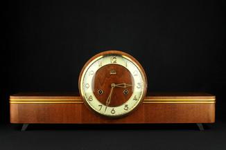Каминные часы FM Sonneberg. VEB Feinmechanik. Германия. (0360)