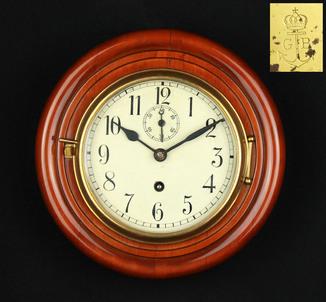 Настенные каютные часы Gustav Becker. Фрайбург. Германия (0362)