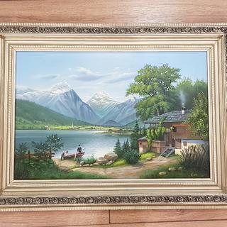 """Квитанов О.В """" Альпийский пейзаж"""" 45×67"""