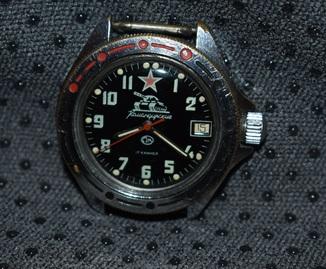 Часы восток командирские с танком рабочие