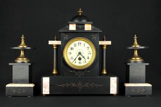 Старинные каминные часы. Japy frères. Beaucourt, Badevel. Париж. Франция (0367)