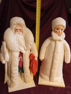 Дед Мороз и Снегурочка СССР папье маше