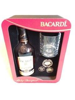 """Ром """"Bacardi"""" 8 years, gift box with glass, 0.7 л"""