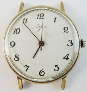 Часы Луч. Позолота AU1