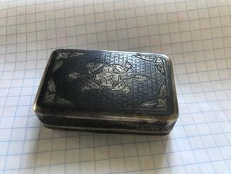 Табакерка серебро 84 пробы
