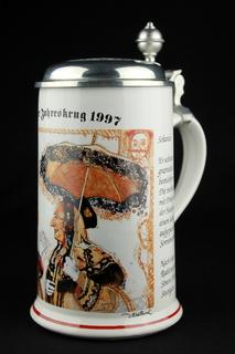 Коллекционная пивная кружка. Пивоварня Вильгельма Майера. Ротвайль. Германия. (0366)