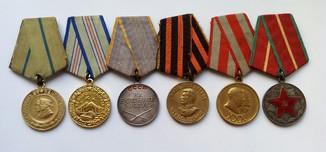 Медали , За оборону Севастополя , Кавказа , ЗБЗ , ЗНГ , выслуга 20 лет.
