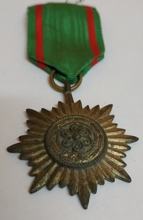 Медаль За заслуги 2 го класа в золоте. Для восточных народов.