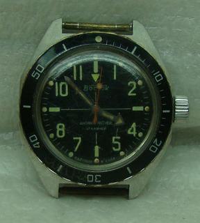 Часы восток амфибия черный ободок ссср