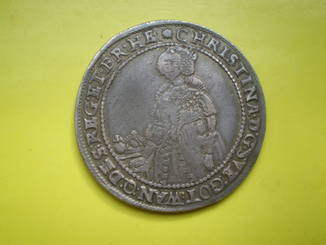 Талер Кристины 1639 г. Швеция