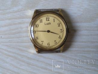 Часы мужские,,Луч,, механические. В желтом металле.Не позолоченные.