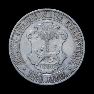 1 Рупия 1890 Лев и Пальма, Немецкая Восточная Африка