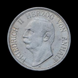 3 Марки 1909 Фридрих II, Анхальт